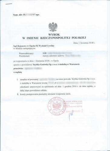 WyrokSzybkaGotowka